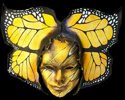 Butterfly Mask Yellow