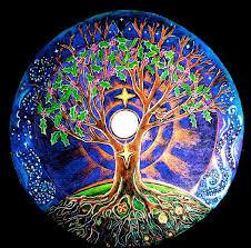 tree earth moon drawing